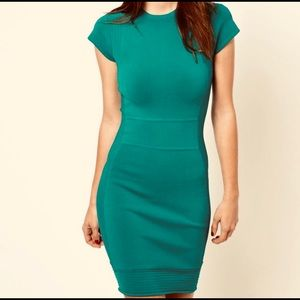 French Connection Green Dress Size 0 bodycon